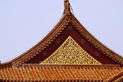 美丽而高雅的古建筑屋顶